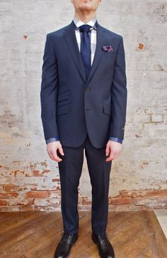 Ted Baker Jim Check Wool Suit With Ticket Pocket: $895