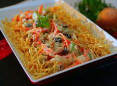 Aprenda como fazer esse salpicão crocante super fácil. Vem ver a receita! #comida #food #receitas #recipe #cybercook #cook #2015