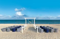 Great idea with a Nautical Beach wedding. http://www.multivu.com/mnr/53338-palace-resorts-hard-rock-hotel-properties-wedding-collection-colin-cowie/