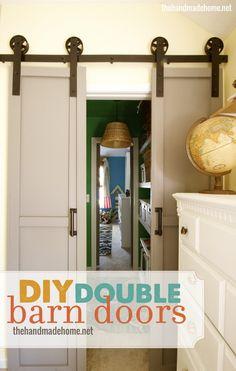 DIY Double Barn Doors | The Handmade Home