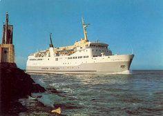 Christian IV - KDS - Færge Fotografier - Ferry Postkort