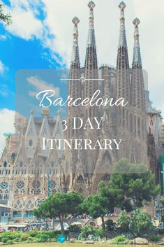 Give me 3 days and I'll give you Barcelona! 3 Day Barcelona Itinerary Easy Planet Travel - World travel made simple Portugal Nord, Spain And Portugal, European Vacation, European Travel, Barcelona Spain Travel, Visit Barcelona, Places To Travel, Places To Go, Travel Nursery