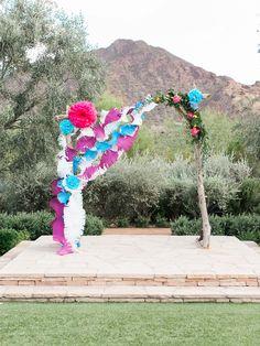 Photography : Rachel Solomon | Photography : Rachel Solomon Photography Read More on SMP: http://www.stylemepretty.com/arizona-weddings/paradise-valley/2015/07/09/colorful-mexican-heritage-inspired-wedding/