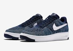 Nike Air Force 1 Flyknit-Navy-3