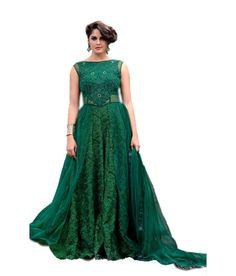 Lucky Infra Green Net Gowns