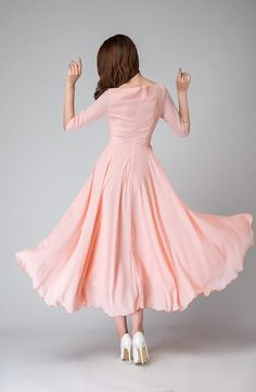 26eecc6c4f This is a pink chiffon bridesmaid dress