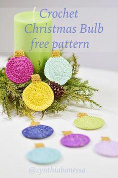 Christmas Bulb free pattern