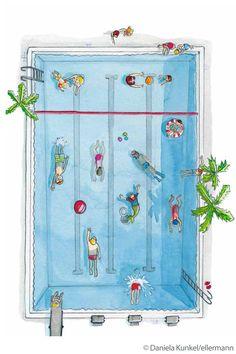 Was macht eine Meerjungfrau bei Langeweile? Einen Ausflug ins Schwimmbad! Hier lesen & downloaden.