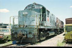 AOK 332   Description:  AOK coal train road power set, for a while.   Photo Date:  6/22/2001  Location:  Wilburton, OK   Author:  John Schumann  Categories:    Locomotives:  AOK 332(C420) AOK 365(C420)