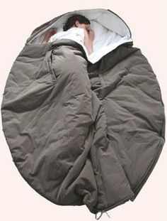 Nebukuro sleeping bag - I like the around-the-head/shoulders part....should keep drafts to a minimum on cold nights.