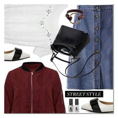 """NEWCHIC street style"" by mada-malureanu ❤ liked on Polyvore featuring GetTheLook, StreetStyle and lovenewchic"