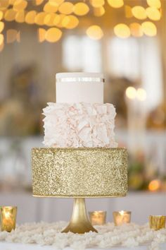 three tier wedding cake in tan gold brides of adelaide
