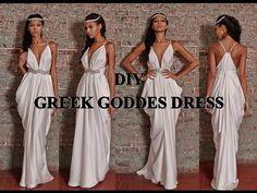 DIY COSTUME | GREEK GODDESS TOGA DRESS & HALF CROWN - YouTube