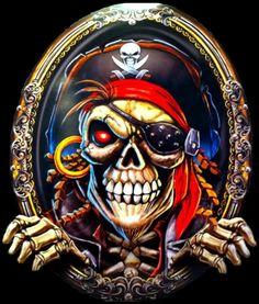 Pirate Art, Pirate Skull, Pirate Life, Pirate Flags, The Pirates, Pirate Photo, Dark Art Drawings, Sugar Skull Art, Raider Nation