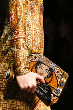 Byzantine inspiration. Details from the FW14 collection at Dolce Gabanna.