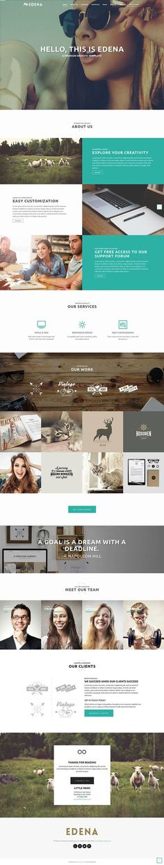 https://www.behance.net/gallery/22538223/EDENA-Creative-Template-One-page-option: