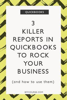 Quickbooks | Small Business | Reports | Record keeping