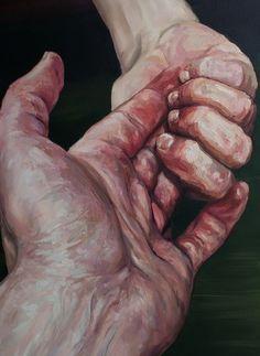 2headedsnake:  Hadas Patryk 'Greenbox (detail)' oil on canvas