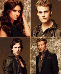 Vampire Diaries<3 (does anyone think that nina dobrev looks exactly like victora justice?!) & my favorite is stefan he is HOT!
