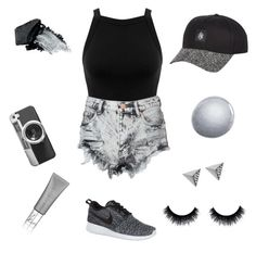 """""""Untitled #9"""" by meaghandarcy on Polyvore featuring NIKE, Miss Selfridge, Glamorous, Casetify, Ileana Makri, Gorgeous Cosmetics, NARS Cosmetics and Sarah Chapman"""