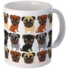 Just Pugs! Small Mug on CafePress.com