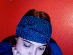 Turquoise Headband Earwarmer Knitted by CuteBrokeCollegeGirl, $12.50