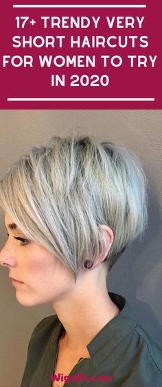 Short hair is more than pixies and bobs, though we love those too. These trendy haircuts are some of our favorite short hairstyles to inspire you. Very Short Haircuts, Trendy Haircuts, Short Hair Wigs, Short Hair Styles, Short Hair Cuts For Women, Wig Hairstyles, Beauty, Fashion, Short Haircuts