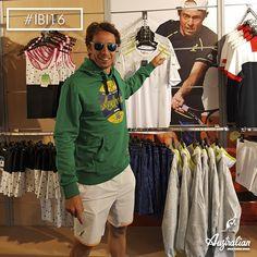 Our Paolo Lorenzi in the #Australian store, #Rome . #officialsponsorIBI16 #IBI16