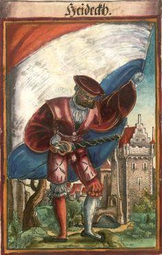 """Heideck [Heideckh] (f°137) -- Koebel, Jacob, """"Wapen des heyligen römischen Reichs teutscher Nation"""", Franckfurth am Main, 1545 [BSB Ms. Rar. 2155]"""