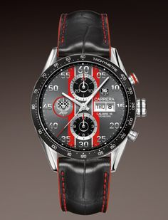 TAG HEUER CARRERA CALIBRE 16 DAY-DATE AUTOMATIC CHRONOGRAPH 43 MM REF: CV2A1J.FC6301 $5,400.00