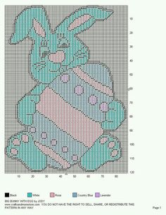 BIG BUNNY WITH EGG WALL HANGING by JODY 3/3
