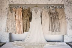 I like the gold dresses  Read More: http://www.stylemepretty.com/mid-atlantic-weddings/2014/03/13/gold-sparkly-kimmel-center-wedding/