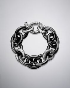 Oval Link Chain, Black Ceramic by David Yurman at Neiman Marcus.