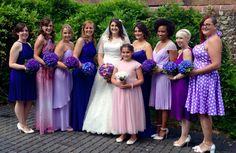 Different purple bridesmaid dresses