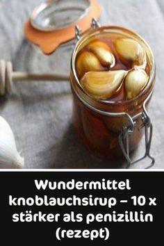 Wundermittel Garlic Syrup - 10 times stronger than penicillin (R .- Wundermittel Knoblauchsirup – 10 x stärker als Penizillin (Rezept Wundermittel garlic syrup – 10 times stronger than penicillin (recipe) - Detox Drinks, Healthy Drinks, How To Lighten Hair, Miracle, Medicinal Herbs, Natural Treatments, How To Lose Weight Fast, Natural Health, Healthy Life