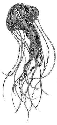 Jellyfish Art Print by Lindsay MKE   Society6