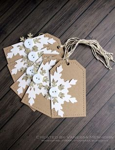 wings of a butterfly: Snowflake Tags
