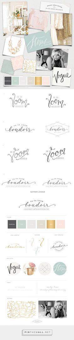 Sophisticated Beauty :: Va Va Voom Boudoir Logo Design - Saffron Avenue : Saffron Avenue - created via https://pinthemall.net