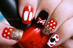 These are quite possibly the cutest Disney themed nails I have ever seen.