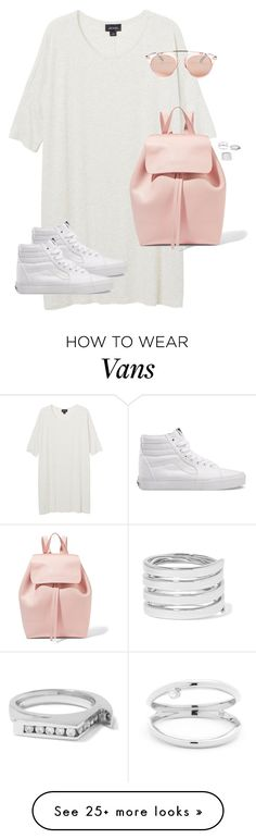 """""""Untitled #12535"""" by alexsrogers on Polyvore featuring Monki, Vans, Mansur Gavriel, Betsey Johnson and Lynn Ban"""