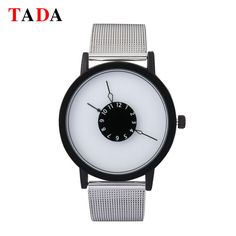 >> Click to Buy << Tada New Lady Elegant Digital Simple Dial Men 30m Waterproof Quartz Woman Watches Silver Stainless Steel Mesh Luxury Watch Gift #Affiliate