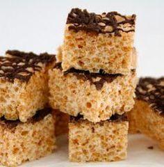 Mat på Bordet: Rice Krispie treats - til barna! Rice Crispy Treats, Krispie Treats, Rice Krispies, Yummy Treats, Cookie Bars, Marshmallows, Tasty, Desserts, Sweetest Thing