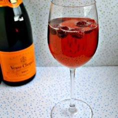 Pomegranate Champagne Cocktail.....My all time favorite!!!!!
