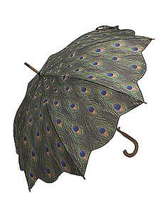 Peacock umbrella! I wish it would rain!! And I had this umbrella, of course!!