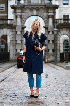Beautiful Blue - London Fashion Week 2014