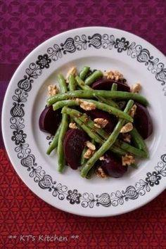 ビーツといんげん、胡桃のバルサミコサラダ|レシピブログ