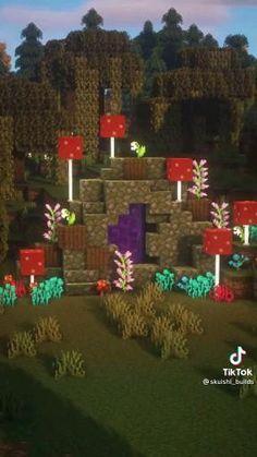 Minecraft Portal, Casa Medieval Minecraft, Minecraft Farm, Minecraft Mansion, Minecraft Cottage, Skins Minecraft, Cute Minecraft Houses, Minecraft Construction, Amazing Minecraft