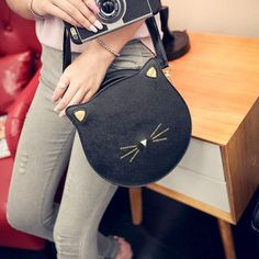 Cheap female bag, Buy Quality women bag 2016 directly from China leather women bag Suppliers: Quality PU leather Women bag 2016 fashion handbags Messenger packet cute kitty cat ears buns shoulder female bag large capacity Fashion Handbags, Fashion Bags, Womens Fashion, Cat Bag, Tote Purse, Crossbody Bags, Satchel, Large Bags, Cross Body Handbags