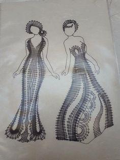 Bobbin Lace Patterns, Crochet Patterns, Irish Crochet, Crochet Lace, Bobbin Lacemaking, Lace Heart, Lace Jewelry, Needle Lace, Lace Making