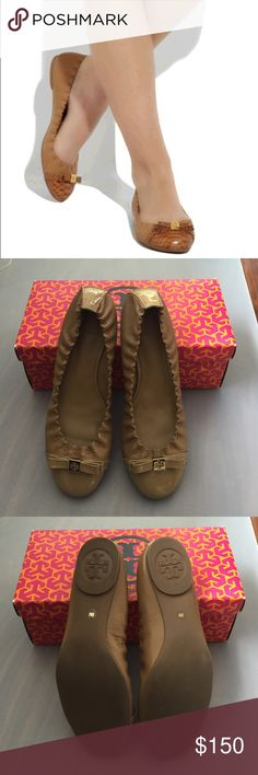 Brand new Tory burch romy ballet flats size 9 Patent calf leather romy ballet flats by Tory burch. It's patent leather on the cap and calf leather on the rest of the shoe. Brand new! No trades Tory Burch Shoes Flats & Loafers